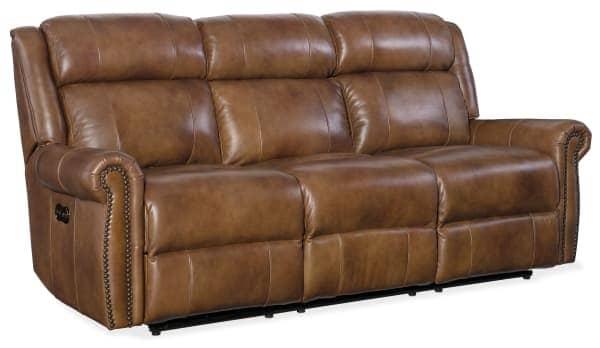 Brown Leather Motion Sofa - Living Room Furniture - Furniture of Dalton - In Stock Furniture