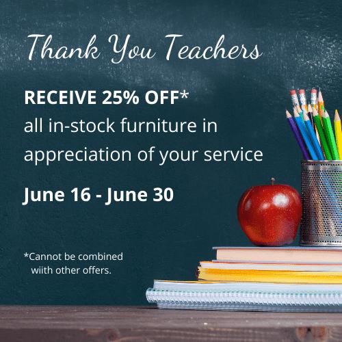 Teachers Discount Sale